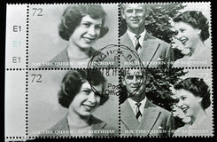 Stamp with image of queen elizabeth