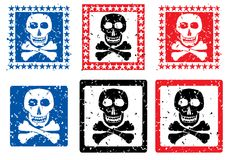Stamp with image of skull. Vector illustration Royalty Free Stock Photography