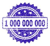 Grunge 1 000 000 000 Stamp Seal. 1 000 000 000 stamp imprint with dirty style. Blue vector rubber seal print of 1 000 000 000 caption with dirty texture vector illustration