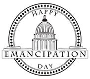 Stamp imprint Emancipation Day. Stamp imprint with the Capitol - Happy Emancipation Day. Vector illustration Royalty Free Stock Photo