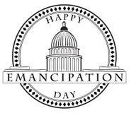 Stamp imprint Emancipation Day Royalty Free Stock Photo