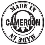 Stamp imprint Made in Cameroon Stock Image