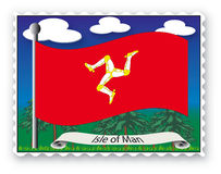 Stamp Isle of Man Royalty Free Stock Photography