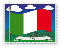 Stamp Italy Royalty Free Stock Images