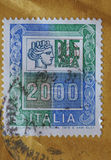 Stamp of Italy Royalty Free Stock Images