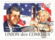 Stamp John Kennedy Royalty Free Stock Photo