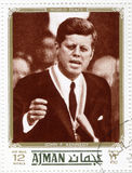 Stamp with Kennedy. Vintage stamps with John Fitzgerald Kennedy