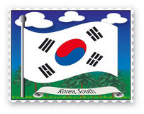 Stamp Korea South Royalty Free Stock Images