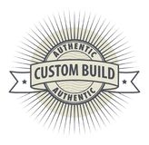Stamp or label Custom Build. Authentic, vector Royalty Free Stock Photos