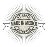 Stamp or label Made in Mexico. Authentic, vector Stock Photography