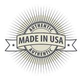 Stamp or label Made in USA. Authentic, vector Royalty Free Stock Images