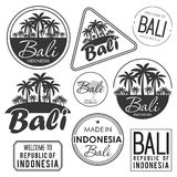 Stamp or label with the name of Bali Island, vector illustration Stock Image