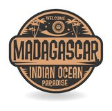 Stamp or label with the name of Madagascar, Indian Ocean Royalty Free Illustration