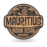 Stamp or label with the name of Mauritius, Indian Ocean Royalty Free Illustration