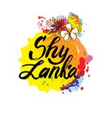 Stamp or label with the name of Sri Lanka, vector illustration