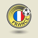 Stamp or label with word France, football theme. Vector illustration vector illustration