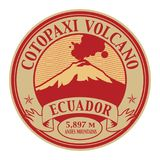 Stamp with words Cotopaxi Volcano, Ecuador. Stamp or label with words Cotopaxi Volcano, Ecuador, vector illustration Royalty Free Stock Photo