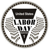 Stamp Labor Day Royalty Free Stock Photo