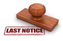Stamp Last Notice stock illustration