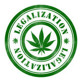Stamp of Legalization. Round, green Stock Photo