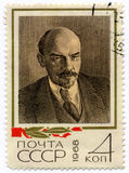 Stamp with Lenin's image Stock Photos