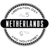 Stamp Liberation Day Netherlands Royalty Free Stock Images