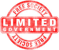 Stamp of Limited government. Free, society Stock Photo