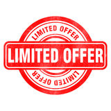 Stamp of Limited offer. Red, round Stock Image