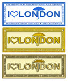 Stamp London Royalty Free Stock Photo