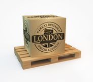 Stamp with London Royalty Free Stock Photography