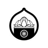 Stamp lotus flower indian culture Royalty Free Stock Image