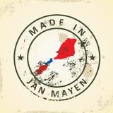 Stamp with map flag of Jan Mayen. Grunge stamp with map flag of Jan Mayen - vector illustration vector illustration