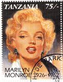 Stamp with Marilyn Monroe stock image