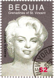 Stamp with Marilyn Monroe. Stamp with actress Marilyn Monroe stock image