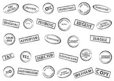 Stamp marks set Royalty Free Stock Image