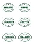 Stamp marks Royalty Free Stock Image