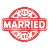 Stamp of Married. Red, round Royalty Free Stock Photography