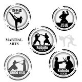 Stamp Martial Arts Royalty Free Stock Image