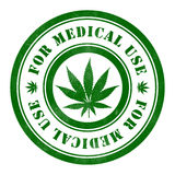 Stamp of For medical use. Round, green Royalty Free Stock Photos