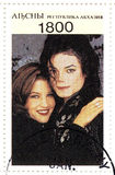 Stamp with Michael Jackson Stock Photo