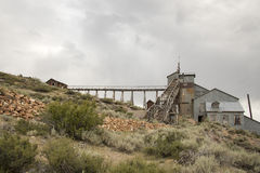 Stamp Mill with rail tracks, Bodie, California Stock Photography