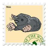 Stamp with mole Royalty Free Stock Photos