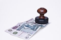Stamp and money Royalty Free Stock Image