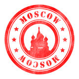 Stamp of Moscow. Red, round Stock Photography