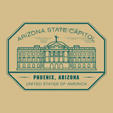 Stamp with name of Arizona, Phoenix Stock Image
