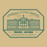 Stamp with name of Arizona, Phoenix Stock Image