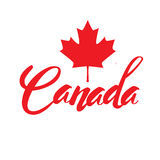 Stamp with name of Canada Royalty Free Stock Photo