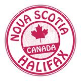 Stamp with name of Canada, Nova Scotia and Halifax. Vector illustration Royalty Free Stock Images