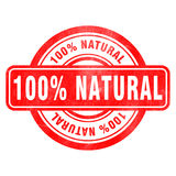 Stamp of Natural. Red, round Royalty Free Stock Photo