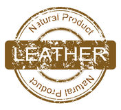 Stamp with natural leather product vector illustration